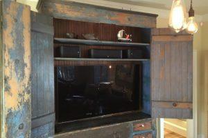 Rustic Milk Cabinet Farmhouse Living Room Dallas