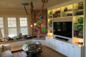 Tv Room Eclectic Home Theater Dallas